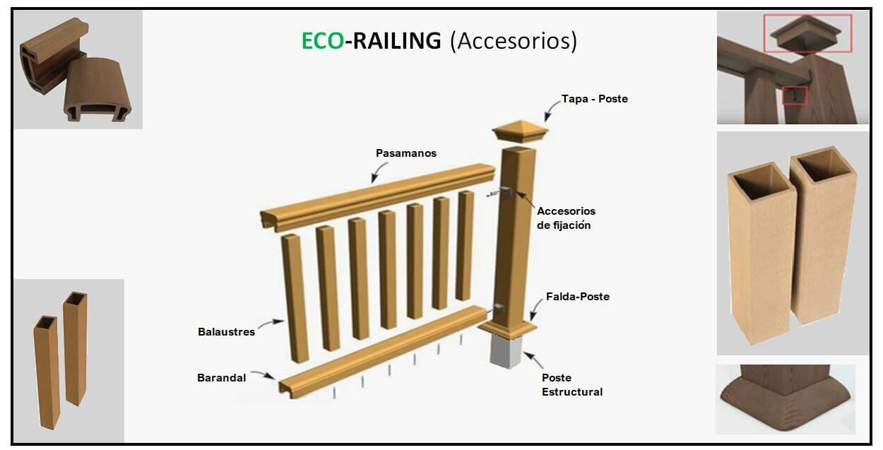 Accesorios de Barandas de Ecomateriales