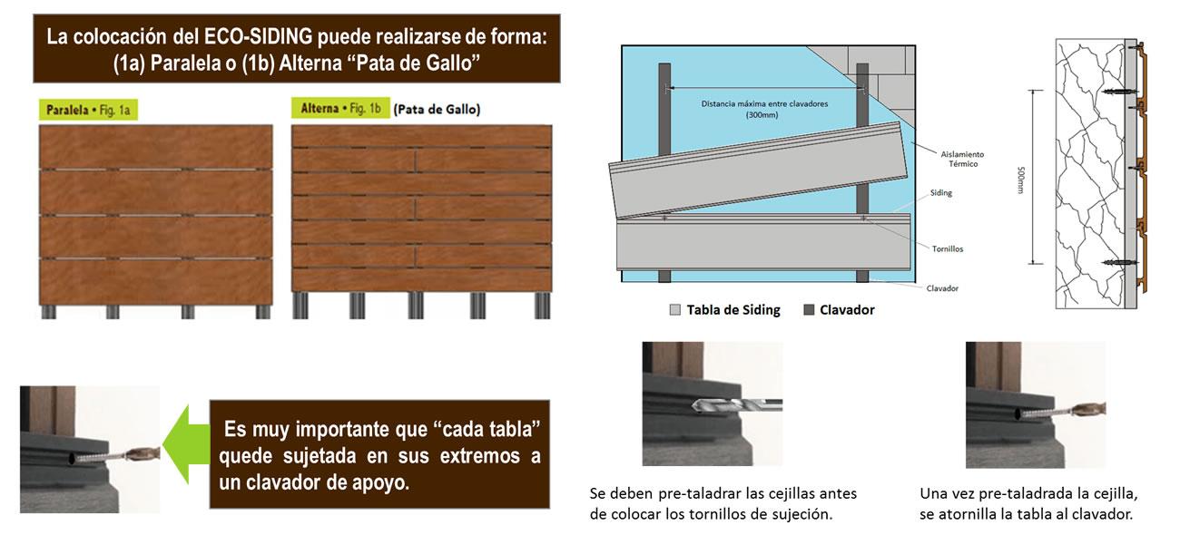 Tablas y clavadores para fachadas