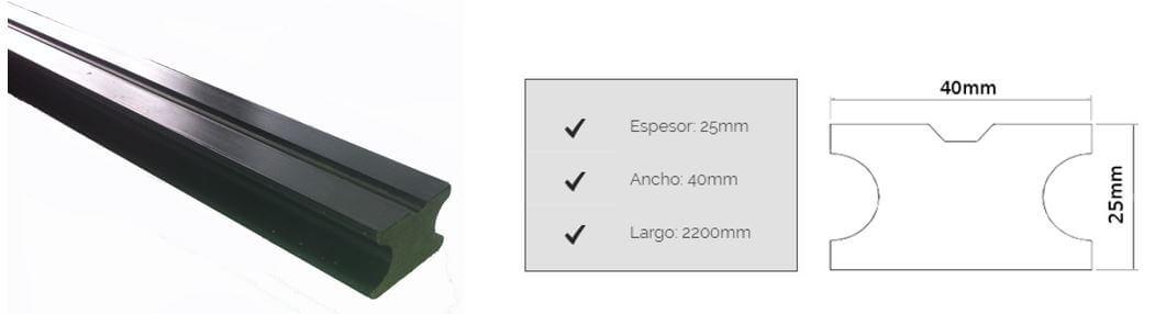 Clavadores plásticos Eco Deck